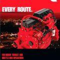 Motory Cummins používané ve všech typech autobusů