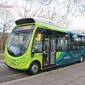 Wrightbus StreetLite indukčně dobíjené elektrobusy v Milton Keynes