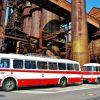 Autobusy Škoda 706 RTO a ŠD, ŠL 11 z kalendáře ke stažení – dnes autobus č. 7