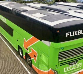 FlixBus testuje projekt, jak snížit emise: střechu autobusu osázel solárními panely