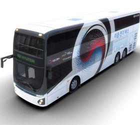 Plně elektrický patrový autokar Hyundai ujede 300 km