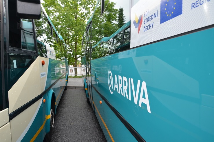 Foto nahled-Ilustracni fotografie autobusu Arriva porizenych za prispeni ROP SC