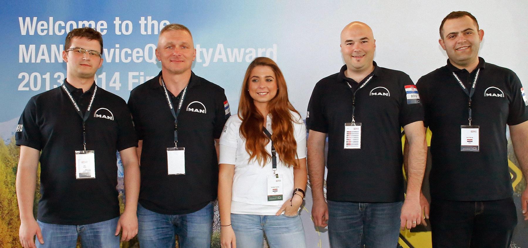 MAN Service Quality Award 2014 Winners