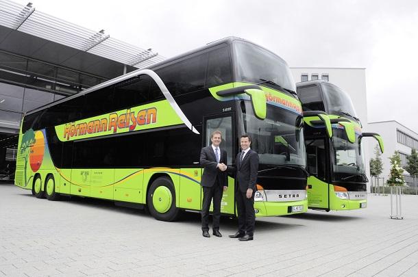 Setra Busübergabe Hörmann 2014