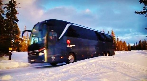 Daimler -zimní test autobusů