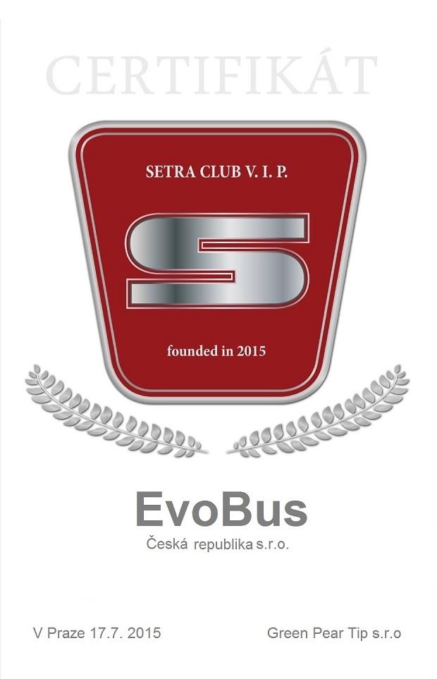 Formulář SETRA CLUB EvoBus ok