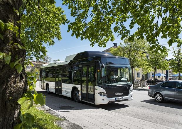 Scania Citywide LF 4x2, gas bus. Södertälje, Sweden Photo: Dan Boman 2014