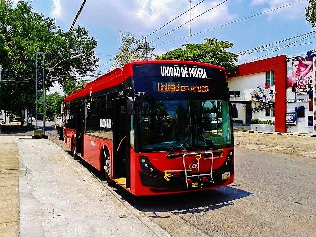 Trolejbus Mexiko.1