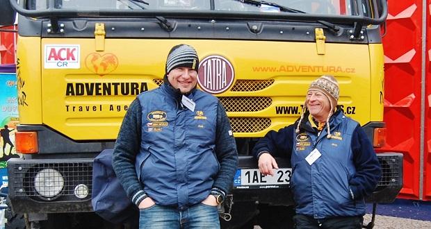 Jan Kolanda - Tarantule (Tule) a Jiří Bermann - Bery z týmu Tatrabusu, foto: Zdeněk Nesveda