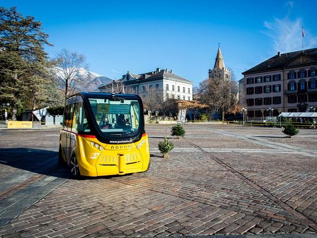Elektrobusy Švýcarsko 1