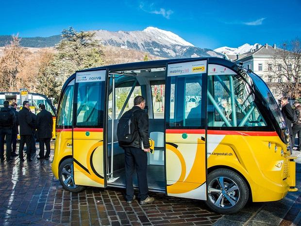 Elektrobusy Švýcarsko 2