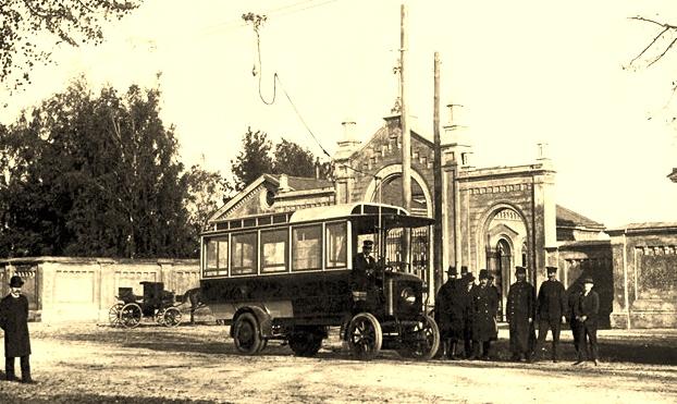 Trolleybus Mércédes-electrique Stoll 1907