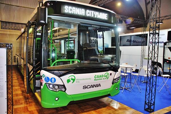Scania Citywide LE 12,0 CNG autobus určený pro příměstské linky na veletrhu CZECHBUS 2016, foto: Zdeněk Nesveda