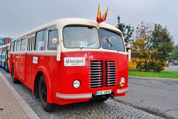Škoda 706 RO 1951 v městském provedení v Muzeu městské hromadné dopravy v Praze, foto: Zdeněk Nesveda