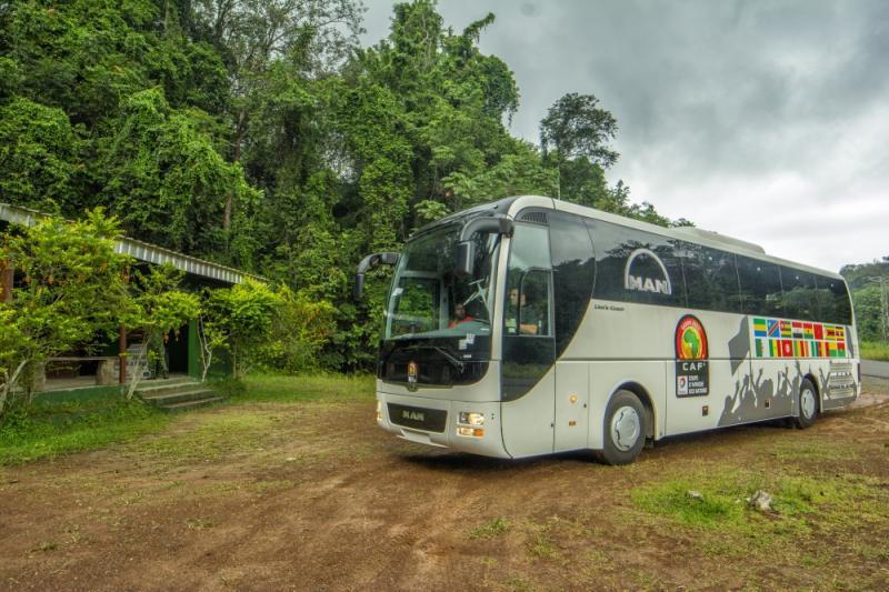 Týmové autobusy MAN na Africa Cup v Gabonu, foto: MAN