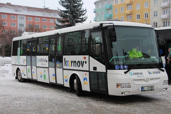 Nový nízkopodlažní elektrobus od českého výrobce SOR Libchavy (SOR EBN 10,5) provozuje v Krnově Arriva Morava