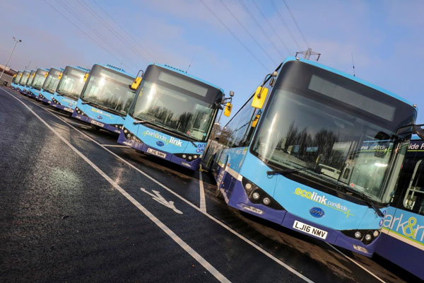Dosavadních 45 elektrobusů BYD najezdilo v Nottinghamu až dosud 1 milión mil, foto: BYD