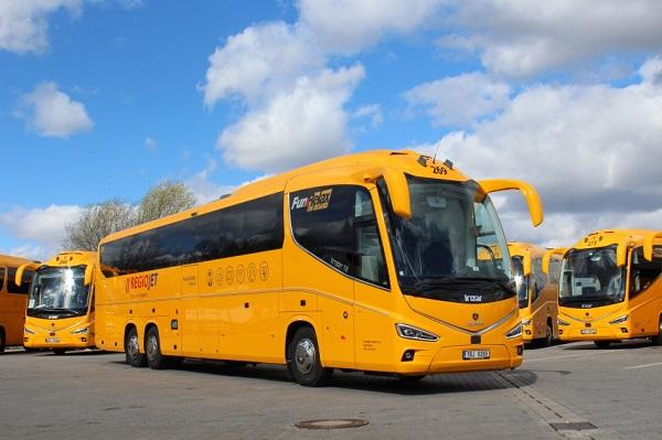 Moderní dálkové autokary RegioJet IRIZAR i8, foto: RJ