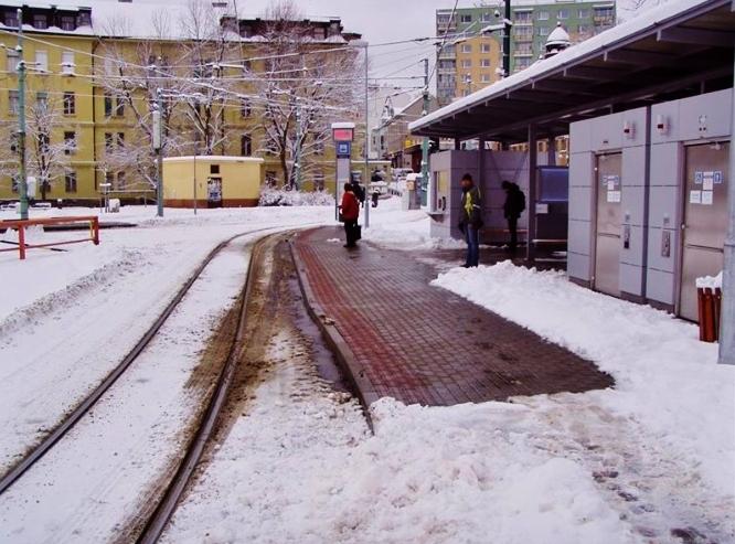 Vyhřívaná tramvajová zastávka, foto: SDP