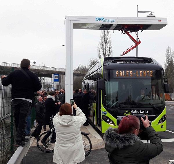 Nabíjecí infrastruktura OppCharge od ABB v Lucembursku, foto: ABB
