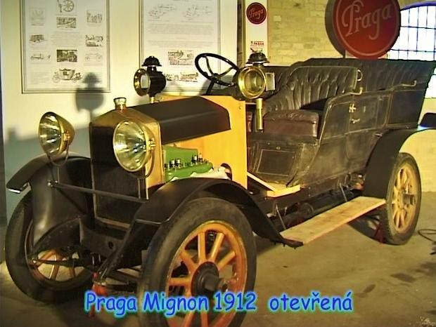 Praga Mignon 1912, Emil Příhoda, foto: archiv Automuzeum Praga