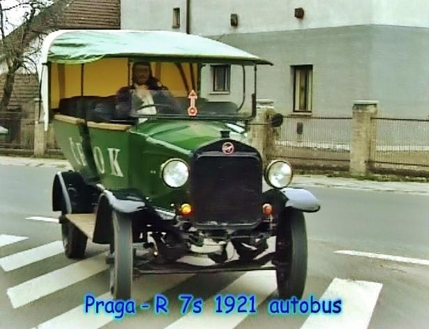 Autobus Praga - R 7s 1921, Emil Příhoda, foto: archiv automuzeum