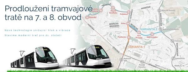 """Portál """"Nová tramvaj Poruba"""", obrázek: DPO"""