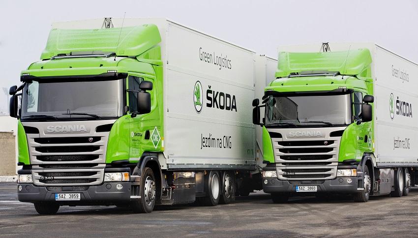 Kamion Scania CNG, poro ŠKODA AUTO, foto: Scania