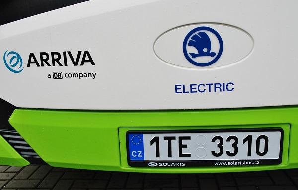 Nové eletrobusy mají i speciální registrační značky, foto: Zdeněk Nesveda