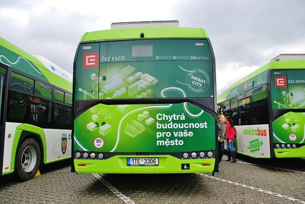 Třinec slavnostně pokřtil 10 nových elektrobusů, foto: Zdeněk Nesveda