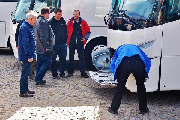 Zájem dopravců o autobusy VDL, Dačice 2017 (foto: Zdeněk Nesveda)