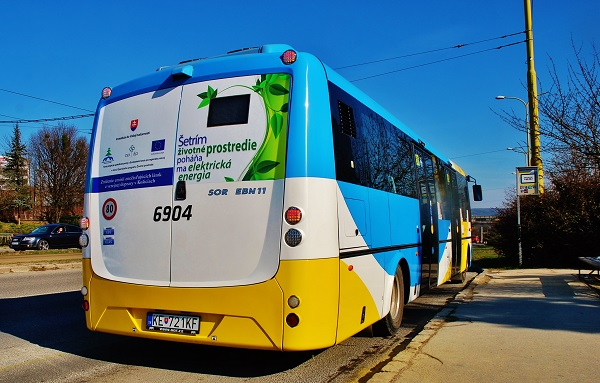 Elektrobus SOR EBN 11 v DPMK (foto: Zdeněk Nesveda)