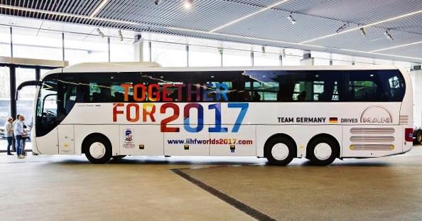 autobus Německé hokejové federaci (DEB) pro reprezentační družstvo Německa. (Foto: MAN)