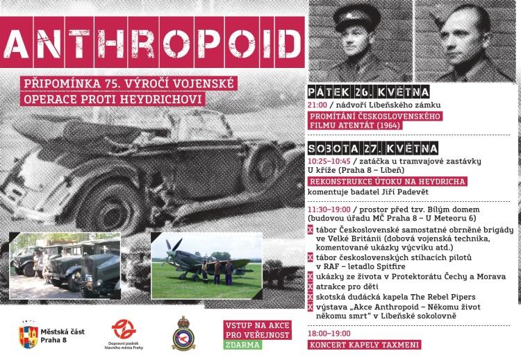 Letos si připomínáme 75. výročí vojenské operace operaci Anthropoid proti zastupujícímu říšskému protektorovi Heydrichovi
