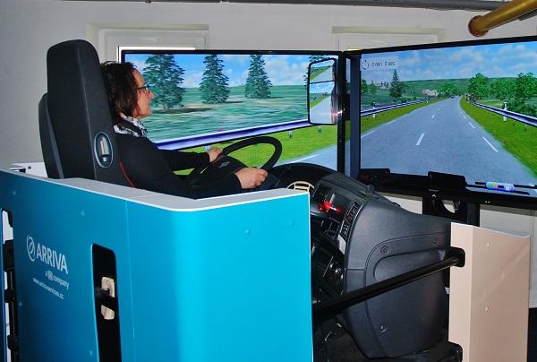 Unikátní simulátor pro výcvik profesionálních řidičů (foto: Zdeněk Nesveda)