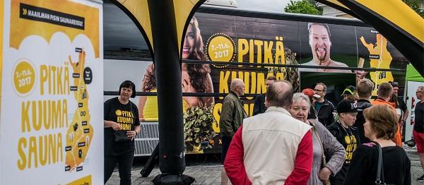 """Originální """"Sauna Bus"""" Scania absolvoval cestu napříč Finskem (foto Scania)"""