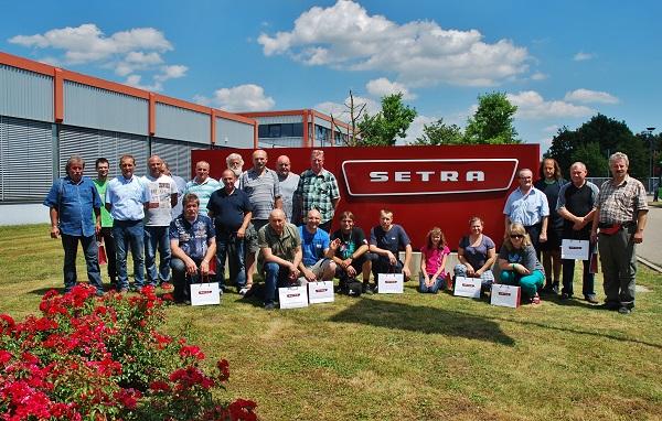 Zaměstnanci ICOM Transport na poznávacím zájezdu do výrobního závodu EvoBus – Setra v Neu- Ulmu 5. 7. 2017 (foto: Zdeněk Nesveda)