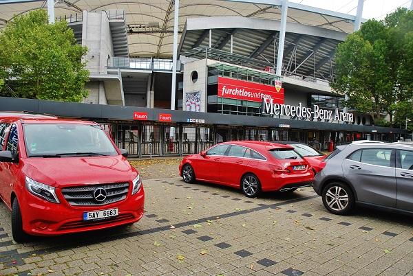 Mercedes - Benz Arena ve Stuttgartu (foto: Zdeněk Nesveda)