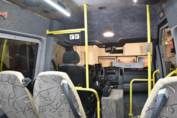 Mercedes - Benz Sprinter KHMC v provedení CITY pro vídeňského dopravce ALTBUS (Dr. Richard), připravený na předání dopravci (foto: KHMC)