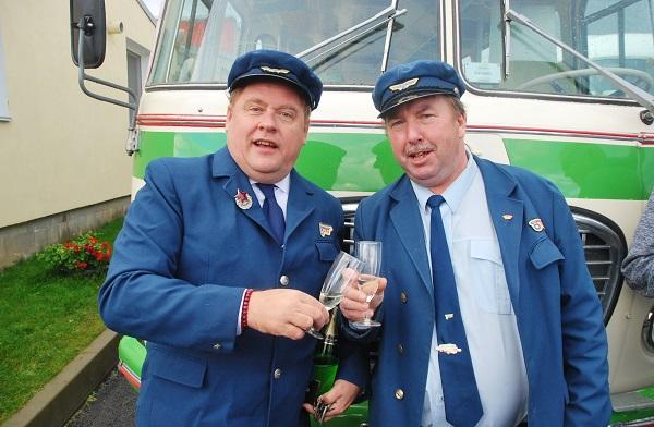 Autobusáci Václav Kopta a Vladimír Jandus (foto: Zdeněk Nesveda)