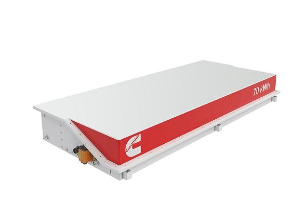 Setava baterií Cummins ve standardním rozměru 70 kWh (foto: Cummins)