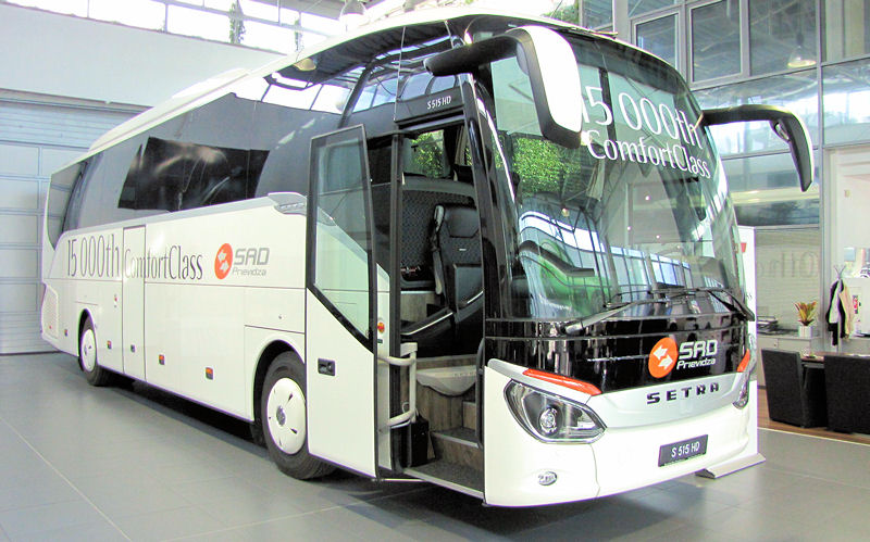 Celosvetovo 15-tisíci autobus Setra radu ComfortClass (foto: Olga Kováčov BUSportál SK)