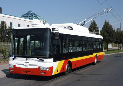 Parciální  trolejbus Škoda 30 Tr pro Hradec Králové (foto: Škoda Electric)