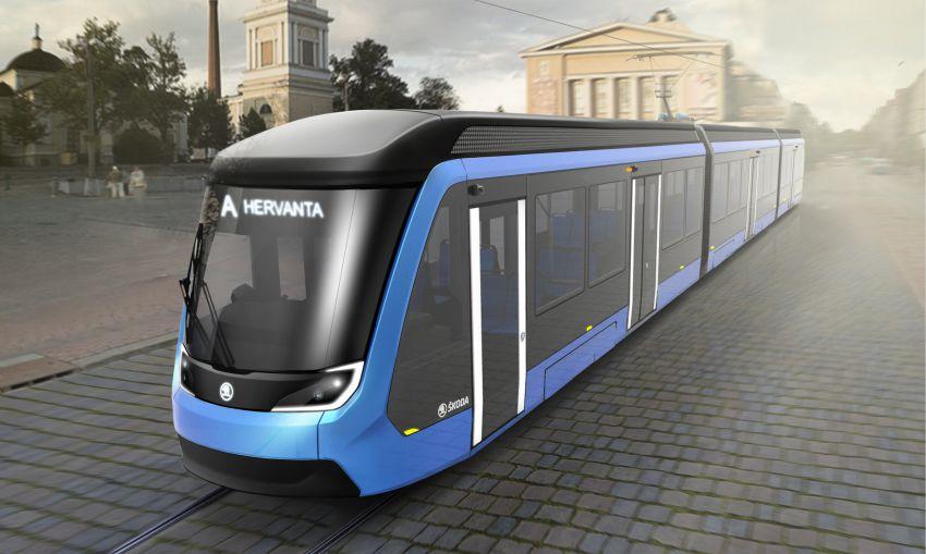 Devatenáct tramvají ForCity Smart Artic včetně desetiletého servisu pro Tampere ( foto: Škoda Transportation)