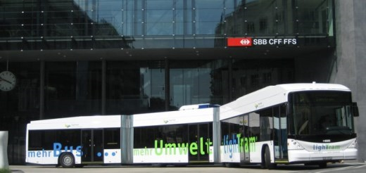 Nové 24metrové elektrobusy HESS s nabíjením ABB TOSA (foto: ABB)