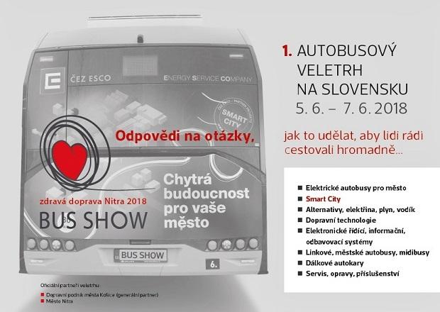BUS SHOW 2018 - zdravá doprava první slovenský dopravní veletrh v Nitře