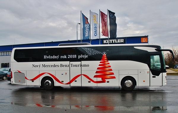 New Mercedes - Benz Tourismo. Hvězdný rok 2018 (foto: Zdeněk Nesveda)