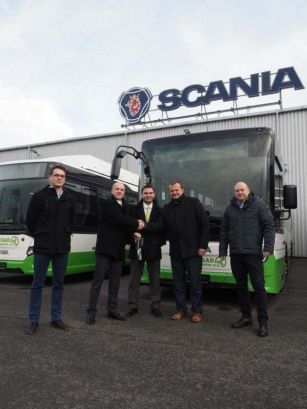 Předání nových autobusů společnosti 3ČSAD (foto: Scania)