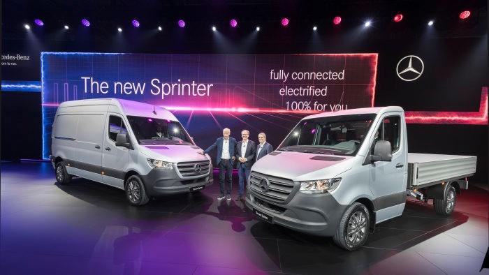 Společnost Daimler AG v Duisburgu představila nový MB Sprinter ve světové premiéře (foto: Daimler)