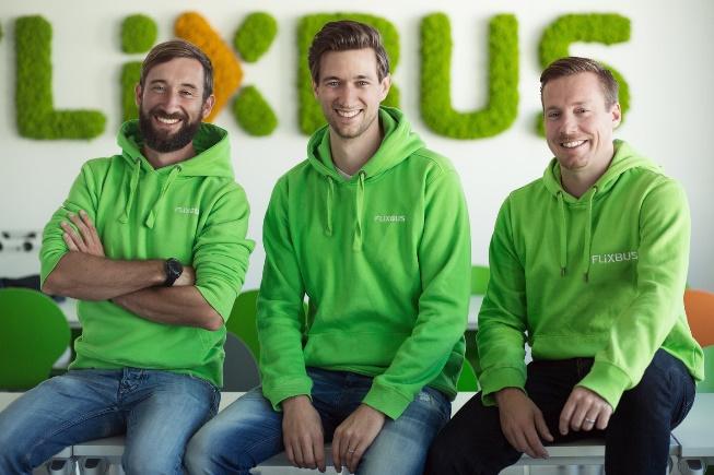 FlixBus v Německu založili tři mladí podnikatelé: Jochen Engert, Daniel Krauss a André Schwämmlein  (foto: FlixBus)